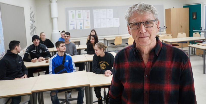 Lars Alm, lärare på Västervångskolan i Landskrona, upplever att hans skola har en bra fysisk lärmiljö. Foto: Andreas Hillergren